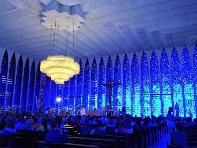 Brasilia's Santuario Dom Bosco looks boxy