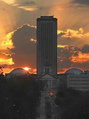 A view of the Capitol Complex from Apalachee Parkway, during the Autumnal Equinox on Sept. 23, 2010.