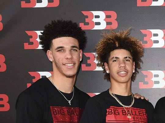 Lonzo Ball (left) and LaMelo Ball at LaMelo Ball's 16th birthday party (PHOTO: Joshua Blanchard/Getty Images for Crosswalk Productions )