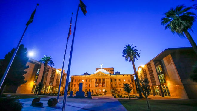 The Arizona State Capitol is seen on April 23, 2014.