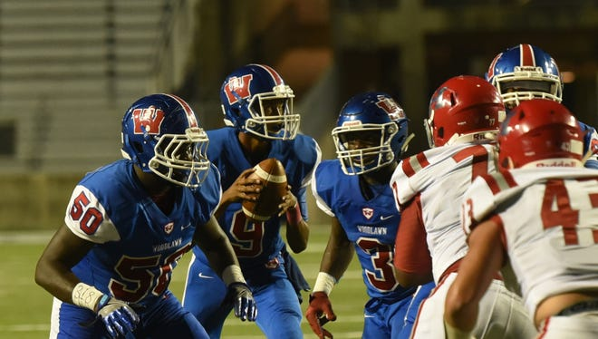 Haughton vs. Woodlawn Thursday evening at Independence Stadium.