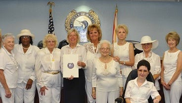 GFWC Woman's Club of Stuart members celebrated the club's  100th anniversary at City Hall.