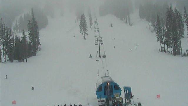 Snow conditions on Mount Bachelor as of 10:45 a.m. Tuesday which received 9 inches of new snow over a 24 hour period.