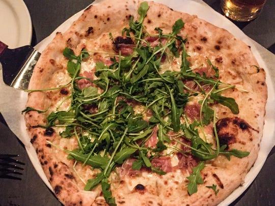 The white Parma pie at Diavola, 1134 E. 54th St.