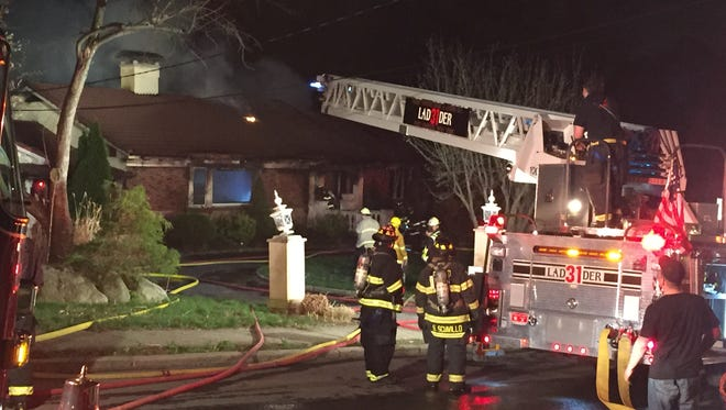 A fire at 1 Betsy Brown Road on Sunday night left one person injured and the house uninhabitable.