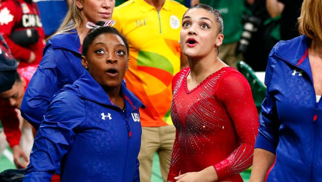 Gymnastics olympians Simone Biles, 19, and Laurie Hernandez, 16, both made 'Time' list.