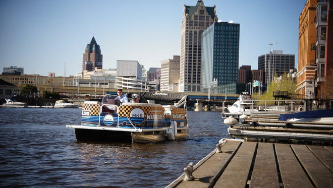 Water Taxi MKE can hold up to six passengers. Rides start at $5 per person.