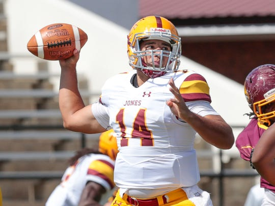 Jones County Junior College quarterback Chris Weaver leads the Bobcats in passing yards this season.