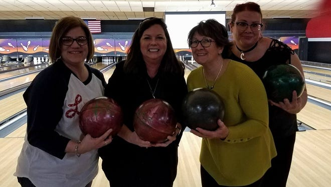 Pins and alleys Every couple months, the activity committee at St. Mary's Medical Center plans an employee fun event, and recently they hosted a bowling event at ARC Lanes. About 50 employees and family members attended for some stiff competition at the lanes. In the photo are Trinita DeTalente, Kalah Georgette Vowels, Ronda Ritz and Hannah Will.