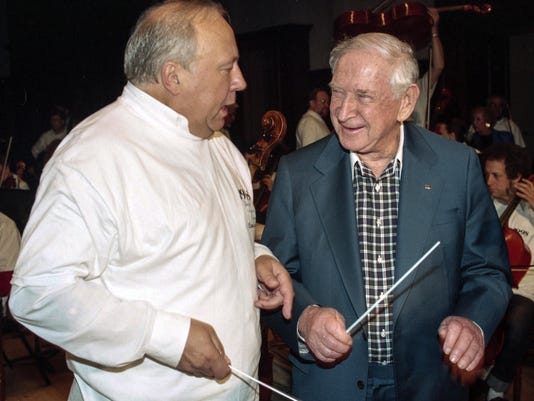 William Davidson and DSO conductor Neeme Jarvi