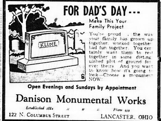 This ad ran in the June 6, 1949 Lancaster Eagle-Gazette.