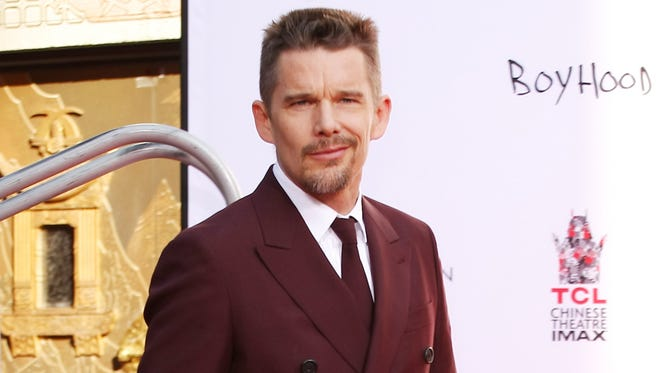 Actor Ethan Hawke gets his Hand & Foot Print Ceremony in Hollywood, CA.
