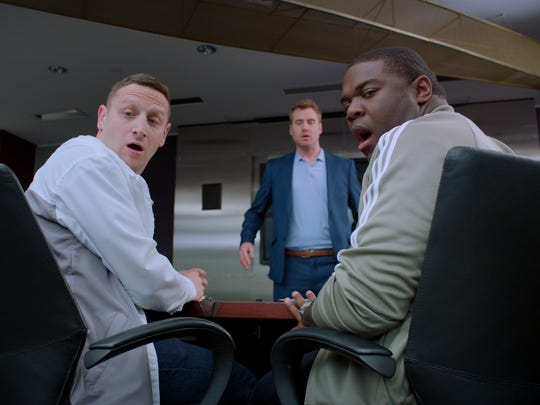 "Tim Robinson, left, and Sam Richardson in ""Detroiters."""