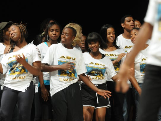Students involved in the Tonea Stewart Performing Arts