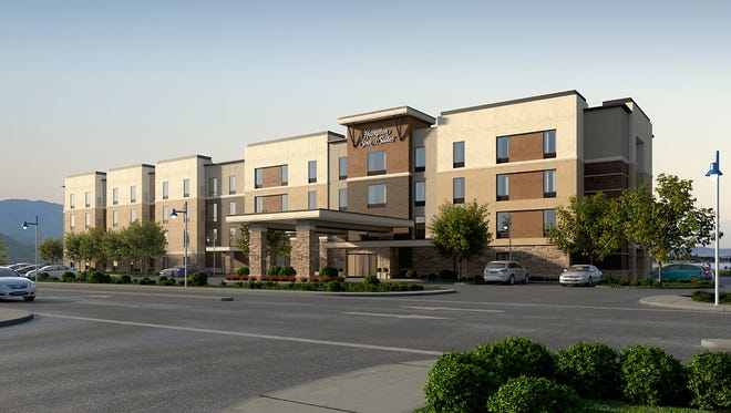 Rendering of the Hampton Inn & Suites at the Outlets at Sparks.