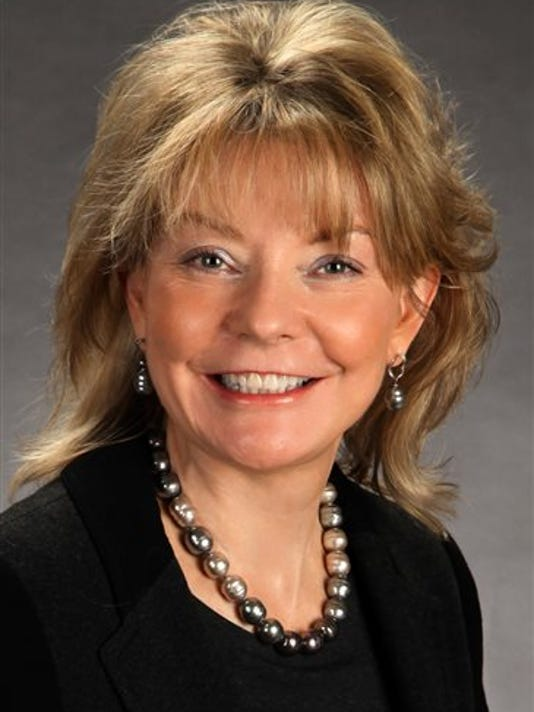 In this undated photo provided by Christine Donohue for Supreme Court Justice Committee, Christine Donohue, Democratic Party candidate for the Pennsylvania Supreme Court, poses for a photo. The Pennsylvania primary election is Tuesday, May 19, 2015.