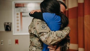 Salem soldier returns home early to surprise wife in the ER on their anniversary