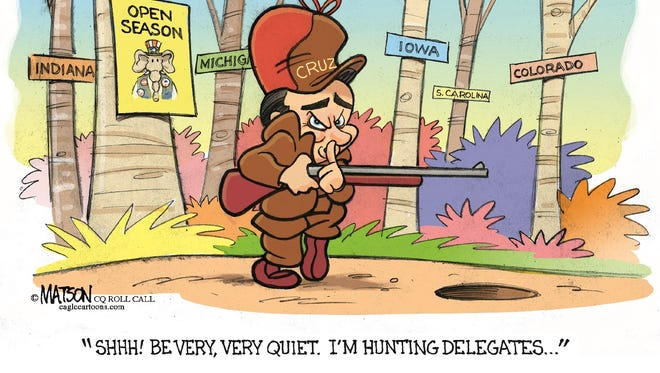 Ted Cruz hunts for delegates