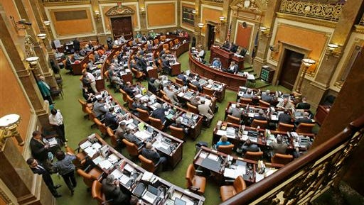 The floor of the House of Representatives is shown Wednesday, March 11, 2015, at the Utah State Capitol, in Salt Lake City. Utah, the only state in the past 40 years to carry out a death sentence by firing squad, is poised to bring back the executions if the state cannot track down drugs used in lethal injections. The Republican-controlled state Legislature gave final approval to the proposal Tuesday night, with lawmakers billing it as a backup plan as states struggle to find execution drugs amid a nationwide shortage. (AP Photo/Rick Bowmer)