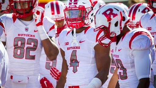 Rutgers wide receiver Leonte Carroo had three touchdowns for the third time in four games this season.