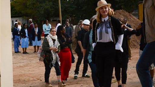 U.S. performer Madonna visits the pediatric surgery and Malawi's first ever intensive care unit at Queen Elizabeth Central Hospital in the southern city of Blantyre, Sunday, July 10, 2016. The pop star has been in Malawi for a week during which she has met with President Peter Mutharika and health minister Peter Kumpalume. Madonna, who has adopted two children from Malawi, is scheduled to visit Queen Elizabeth Central Hospital on Sunday to view the pediatric unit where construction started in May 2015 and which is expected to open in early 2017.