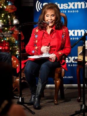 Loretta Lynn speaks Dec. 6, 2016, in Hurricane Mills, Tenn.