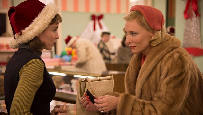 Rooney Marale, left, as Therese Belivet and Cate Blanchett as Carol Aird in 'Carol.'
