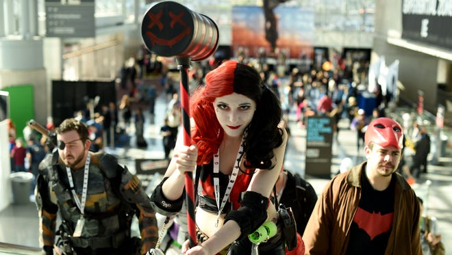 Costumed fans arrive for a Comic Con event in New York. Gump City Comic Con in Montgomery isn't affiliated with any other convention but is planning its own cosplay contest, among many other events.