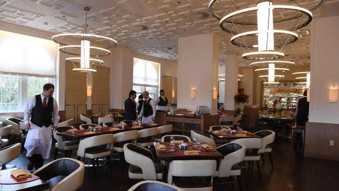 A view of the main dining area of The Bocuse Restaurant at the Culinary Institute of America in Hyde Park.