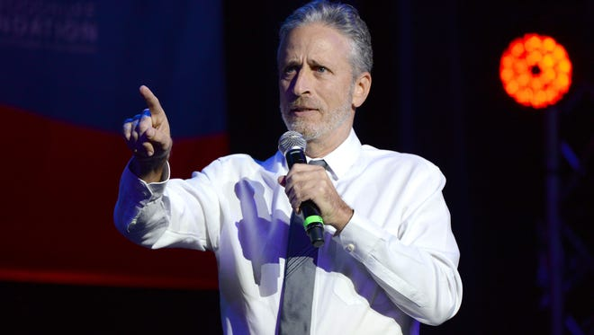 Jon Stewart will be back behind the anchor desk as he co-hosts ESPN's SportsCenter on Friday.