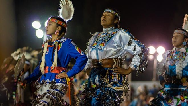 Dancers perform at a previous San Manuel pow wow.