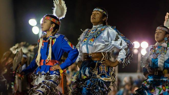 Dancers perform at a previous San Manuel pow wow.