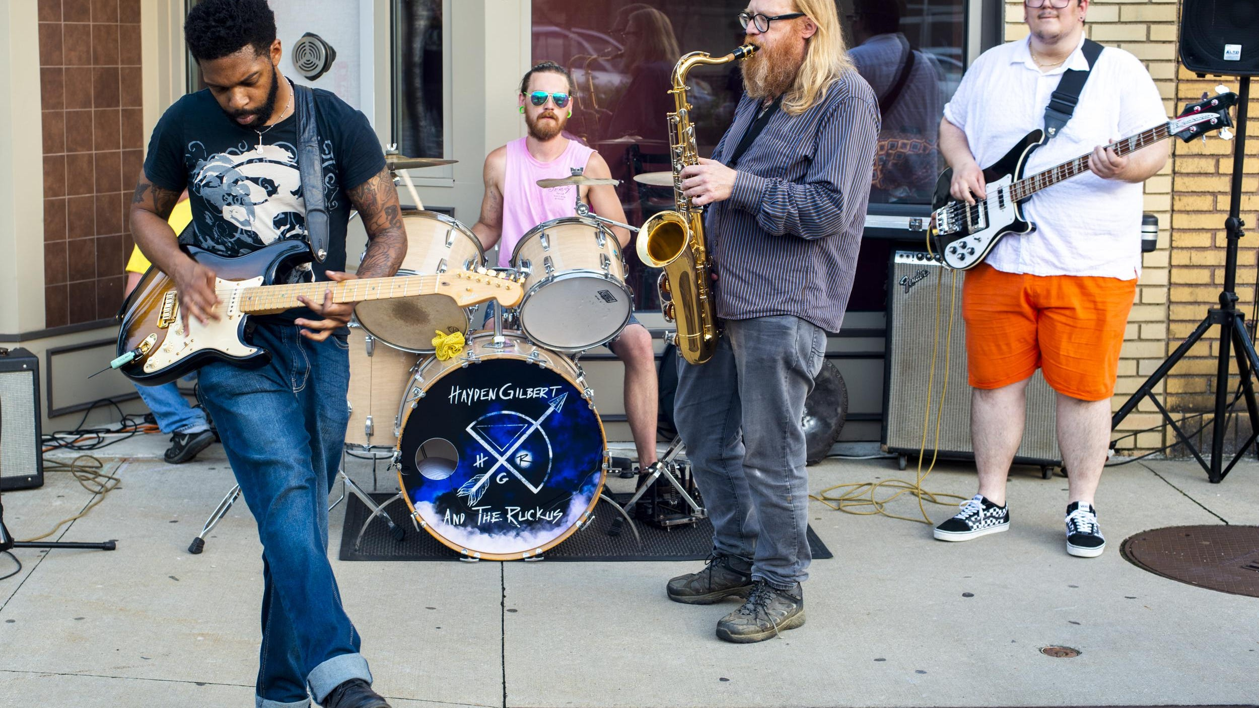 Hayden Gilbert (left) and the Ruckus are one of the 12 bands that pre-recorded sets for CouchRokr 2020, the virtual version of the popular Highland Square music festival PorchRokr.
