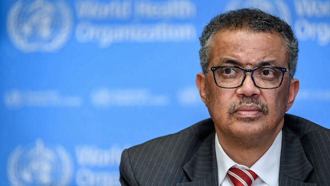World Health Organization Director-General Tedros Adhanom Ghebreyesus attends a news briefing on the novel coronavirus at the WHO headquarters in Geneva on March 11, 2020.