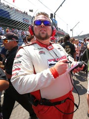 Nick Yeoman, a pit reporter for IMS Radio Network,