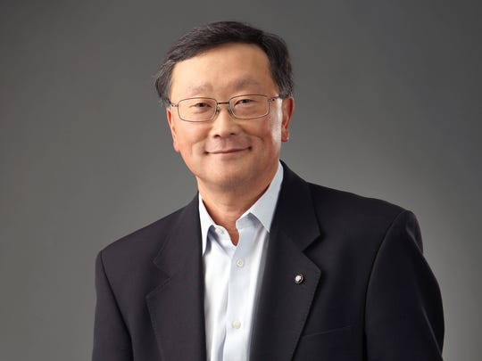 BlackBerry CEO John Chen is scheduled to speak Monday at the Detroit auto show and announce a new cybersecurity product aimed at protecting data collected and processed by connected and autonomous vehicles.