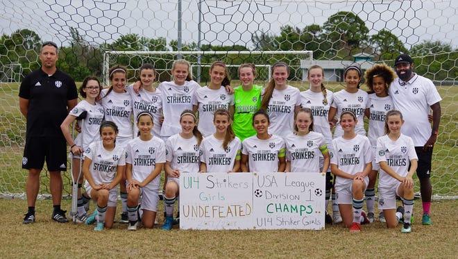 Lee County Strikers U14 girls soccer team
