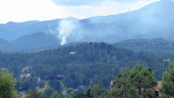 Smoke filled the sky during a fire near Ruidoso.