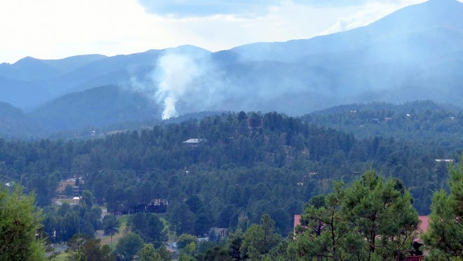 Smoke like this always alarms those who live in the mountains and are surrounded by national forest.