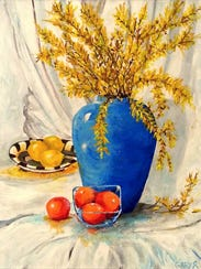 """""""Forsythias and Fruit"""" by Gary Dotterer"""
