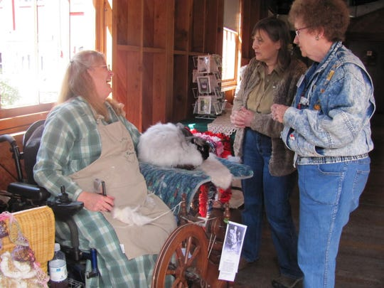 Members of the Salem Fiber Arts Guild will demonstrate carding, spinning, weaving and fleece dying at Sheep to Shawl on Saturday, May 9, at Willamette Heritage Center.