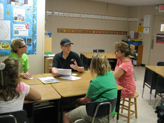 Students at L. Leo Judice Elementary brainstorm with