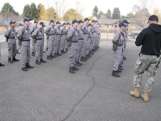 Cadet Jonathon Rabe and other cadets during Youth ChalleNGe.