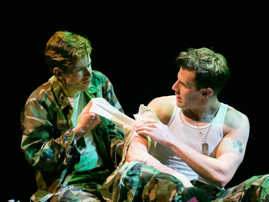 "Daniel David Stewart and Harley Jay in TPAC's world premiere production of ""Part of the Plan."""