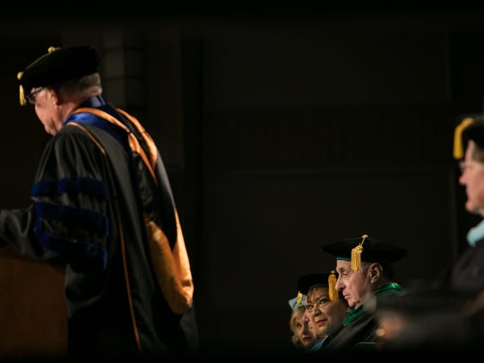 Inauguration of fourth University President Dr. LaVerne T. Harmon at the Chase Center on the Riverfront. LaVerne is the first African-American woman to be named the President of a university or college in the state of Delaware.