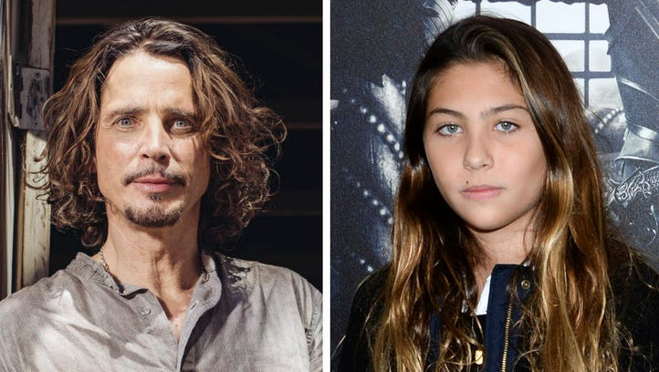 Chris Cornell, left and his daughter Toni in 2015.