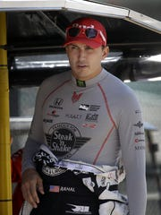 IndyCar driver Graham Rahal during practice for the 100th running of the Indianapolis 500 Thursday May 19, 2016, afternoon at the Indianapolis Motor Speedway.
