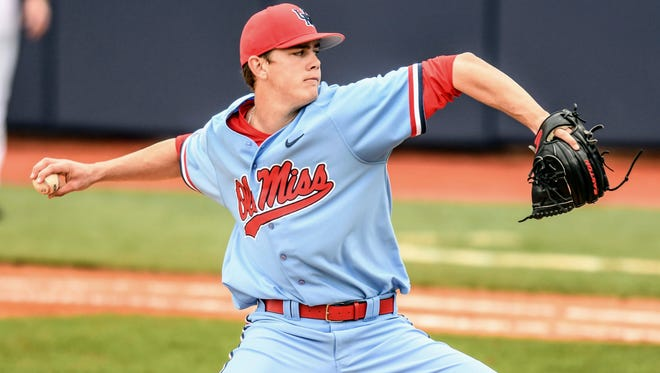 James McArthur (26) struck out seven batters in Ole Miss' 3-1 win over Winthrop.