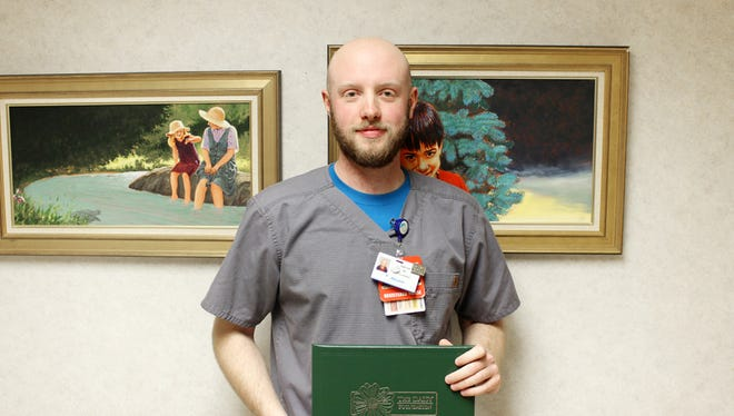 Patrick Fox, RN, in the oncology department at McLaren Greater Lansing, was honored this month with the DAISY Award for Extraordinary Nurses.