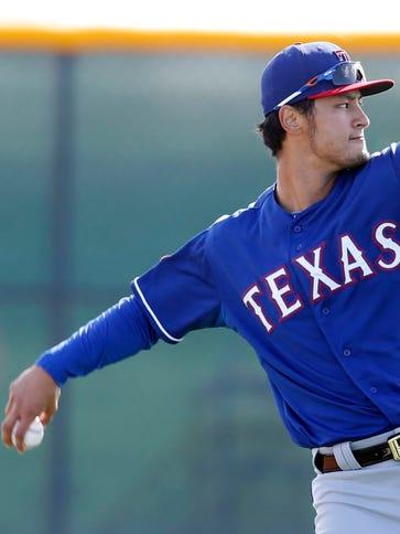 Feb 24, 2015; Surprise, AZ, USA; Texas Rangers starting